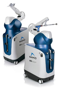 Photo of MAKOplasty robot